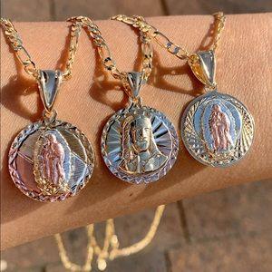 Children 3 tone necklace 👶🏻👧🏻